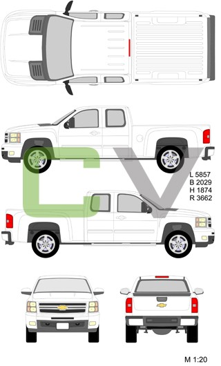 Chevrolet Silverado HD Longcab Standardbox (2012)
