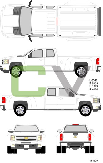 Chevrolet Silverado HD Longcab Standardbox Double (2012)