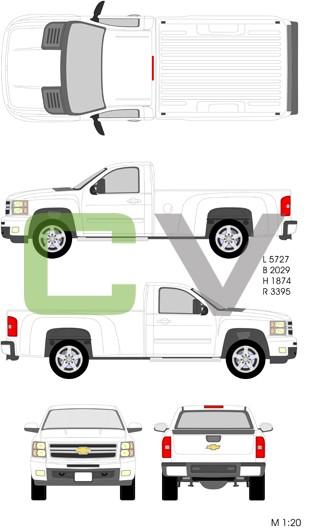 Chevrolet Silverado HD Normalcab Longbox (2012)