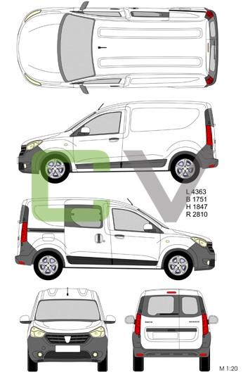 Dacia Dokker Express (Teilverglast)