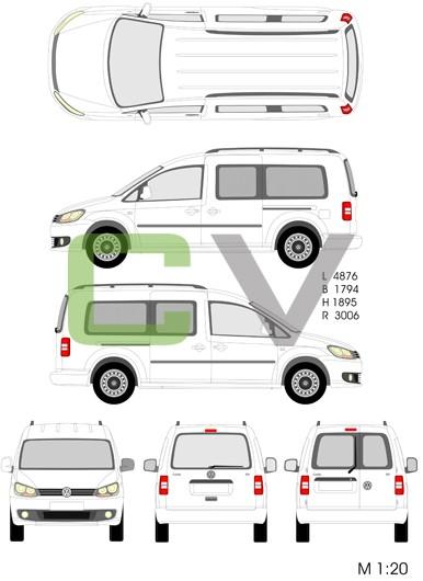 VW Caddy Maxi Kombi (2013)