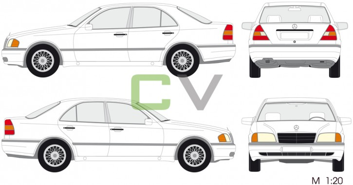Mercedes C (1993) (4 Türer)