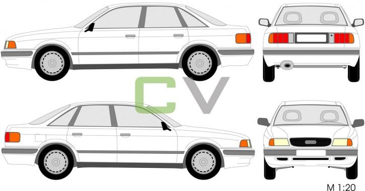 Audi 80 (1991) (4 Türer)