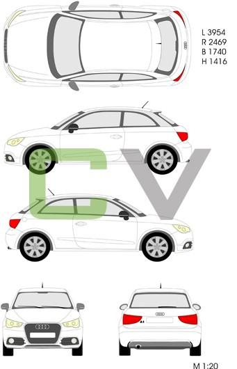 Audi A1 (2010) (3 Türer)