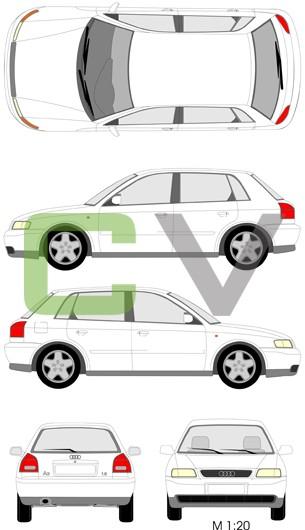 Audi A3 (1996) (5 Türer)