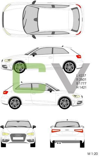 Audi A3 (2012) (3 Türer)