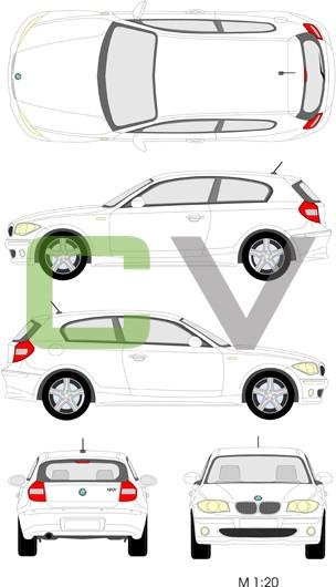 BMW 1er Serie  (2008) (3 Türer)