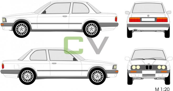 BMW 3er Serie  (1990) (2 Türer) 3.90