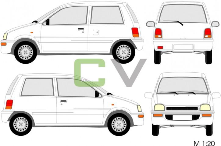 Daihatsu Cuore Typ 2 (3 Türer)