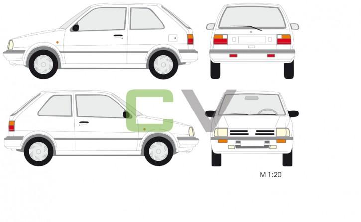 Nissan Micra Typ 3 (3 Türer)