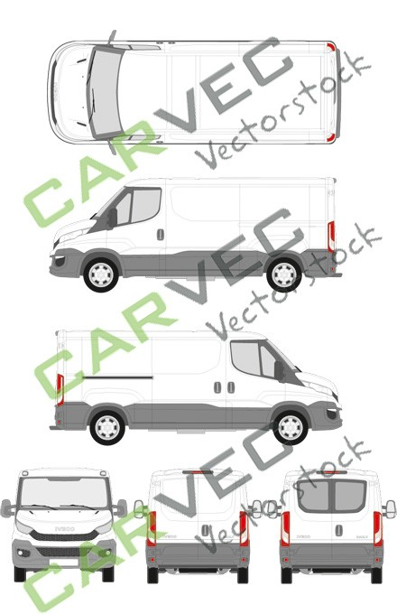Iveco Daily L2H1 (Radstand 3520) Kasten (2014)