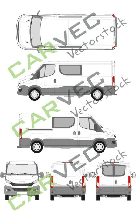 Iveco Daily L2H1 (Radstand 3520) teilverglast (2014)