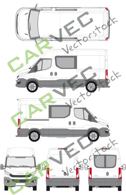 Iveco Daily L2H2 (Radstand 3520) teilverglast (2014)