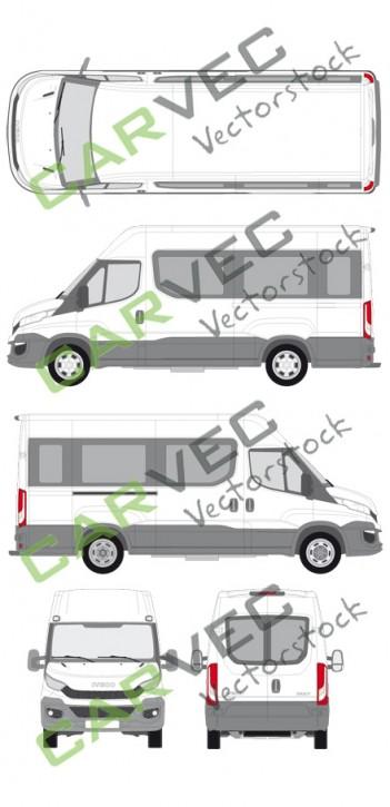 Iveco Daily L3H2 (Radstand 3520L) verglast (2014)