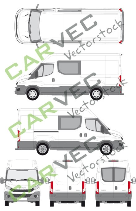 Iveco Daily L3H2 (Radstand 3520L) teilverglast (2014)