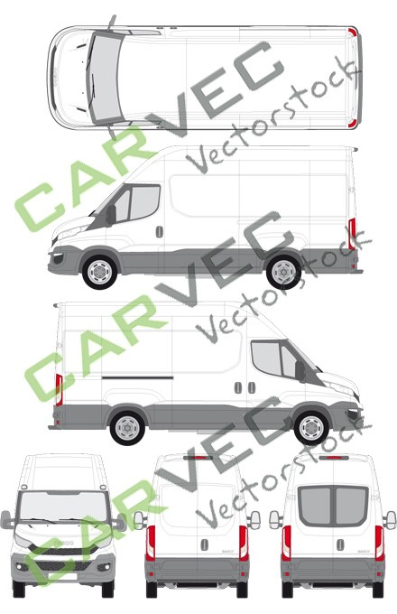 Iveco Daily L3H3 (Radstand 3520L) Kasten (2014)