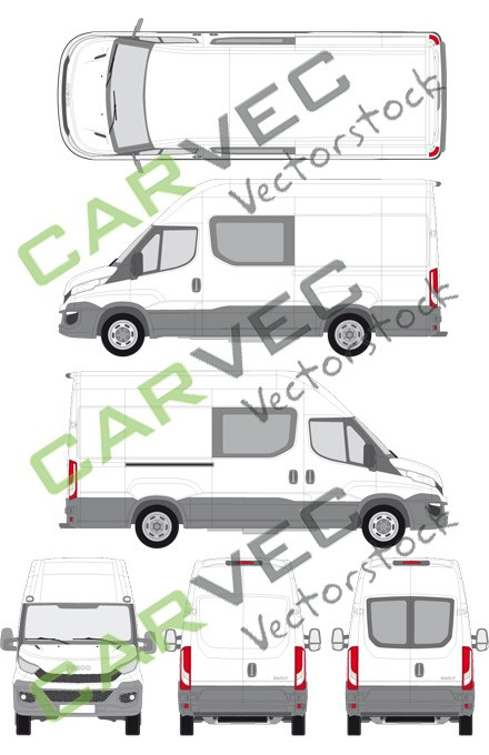 Iveco Daily L3H3 (Radstand 3520L) teilverglast (2014)