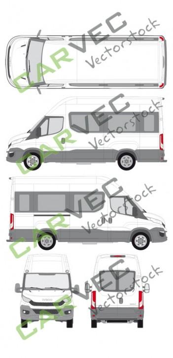 Iveco Daily L3H3 (Radstand 3520L) verglast (2014)