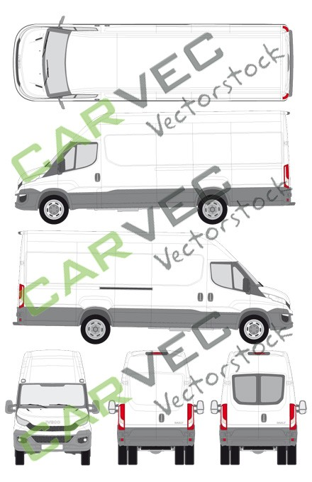 Iveco Daily L4H3 (Radstand 4100) Kasten (2014)