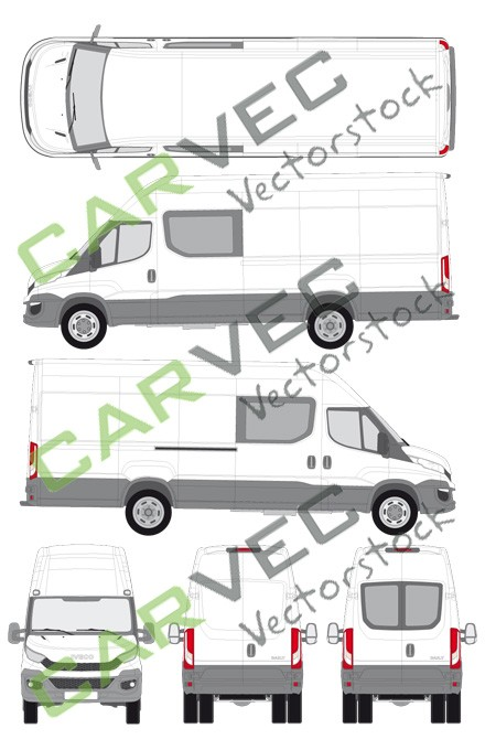 Iveco Daily L4H3 (Radstand 4100) teilverglast (2014)