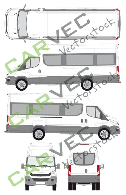 Iveco Daily L4H3 (Radstand 4100) verglast (2014)