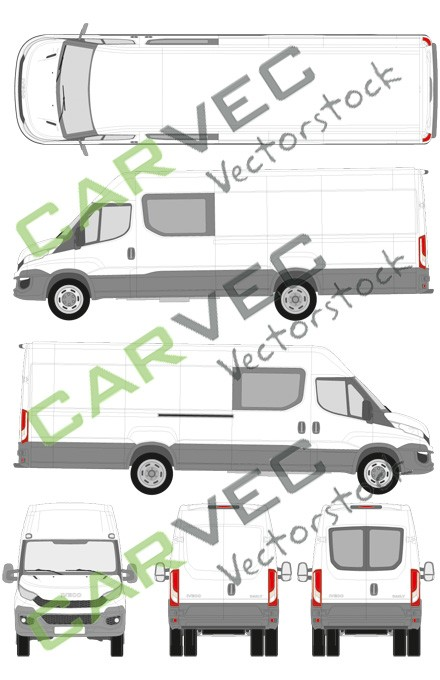 Iveco Daily L5H2 (Radstand 4100) teilverglast (2014)