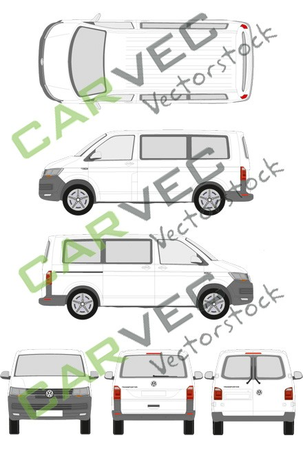 VW Transporter T6 L1H1 verglast (2015)