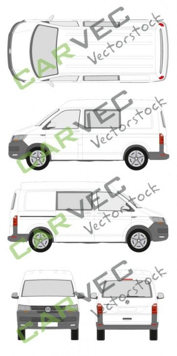 VW Transporter T6 L1H2 teilverglast (2015)