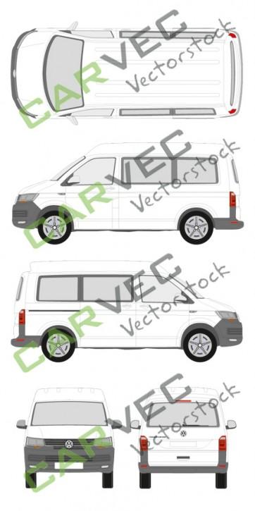 VW Transporter T6 L1H2 verglast (2015)
