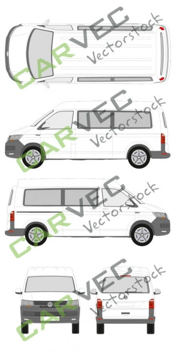 VW Transporter T6 L2H2 verglast (2015)
