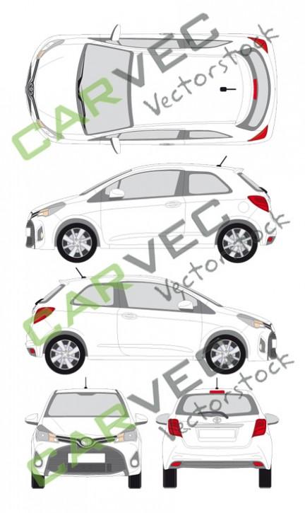 Toyota Yaris (2014) (3 Türen)