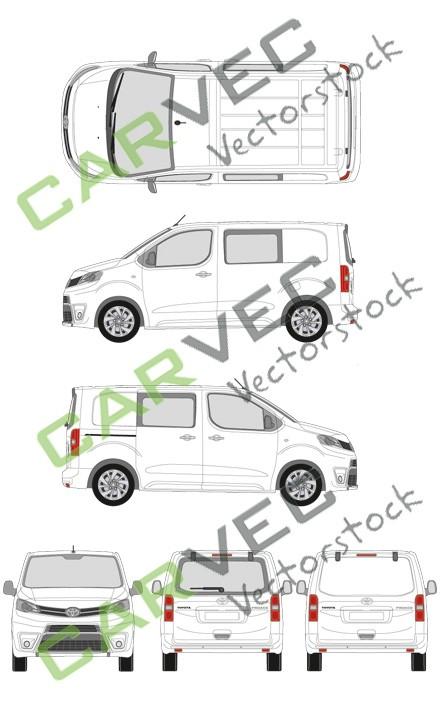 Toyota Proace L1 Kasten teilverglast (2016)