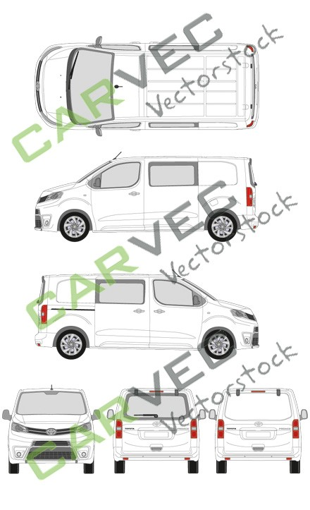 Toyota Proace L2 Kasten teilverglast (2016)