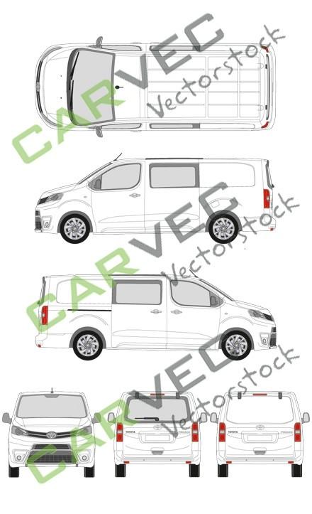 Toyota Proace L3 Kasten teilverglast (2016)