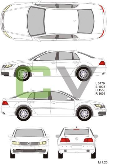 VW Phaeton (2013) (Long)