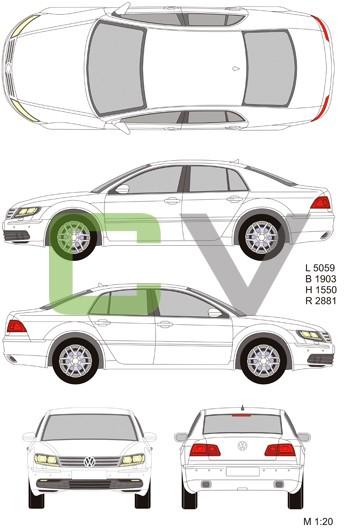 VW Phaeton (2013) (Short)
