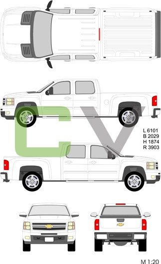 Chevrolet Silverado HD Doublecab Standardbox (2012)