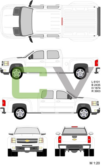 Chevrolet Silverado HD Doublecab Standardbox Double (2012)