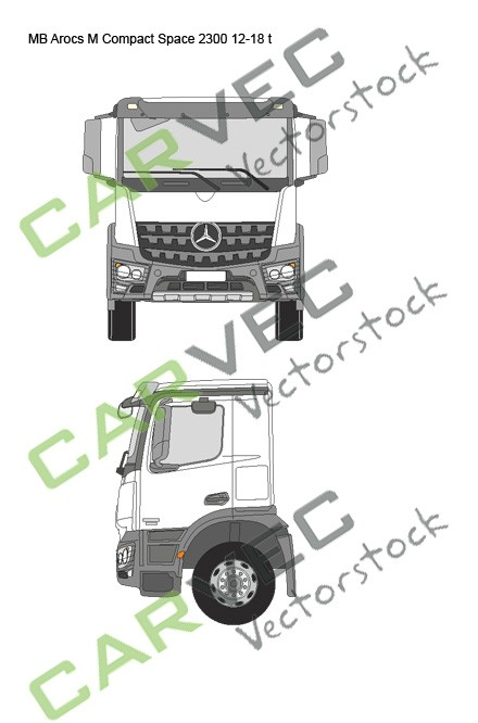 Mercedes Arocs M Compact Space 2300 12-18t