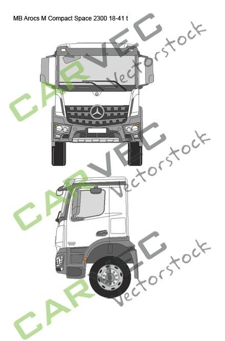 Mercedes Arocs M Compact Space 2300 18-41t