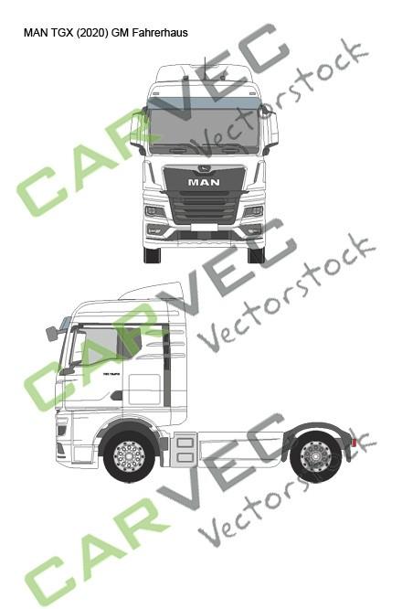 MAN TGX (2020) GM Fahrerhaus Sattel
