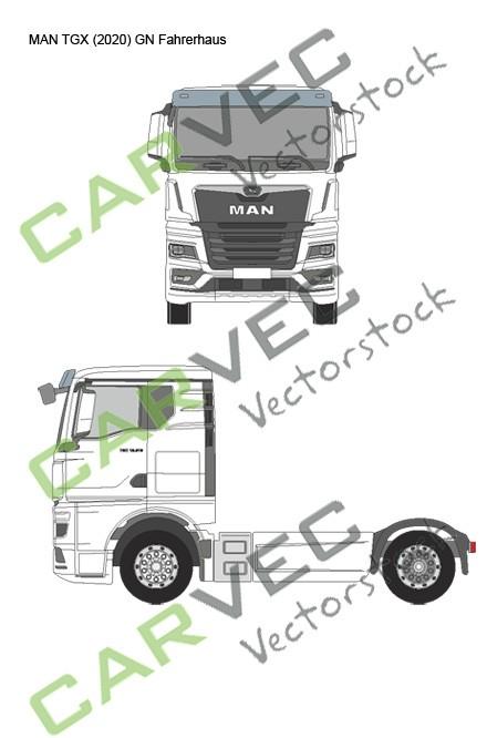 MAN TGX (2020) GN Fahrerhaus Sattel
