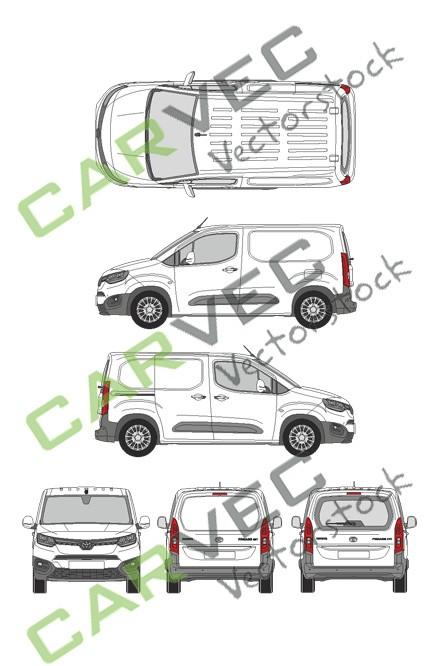 Toyota Proace City L1 (2020) (Heckklappe)