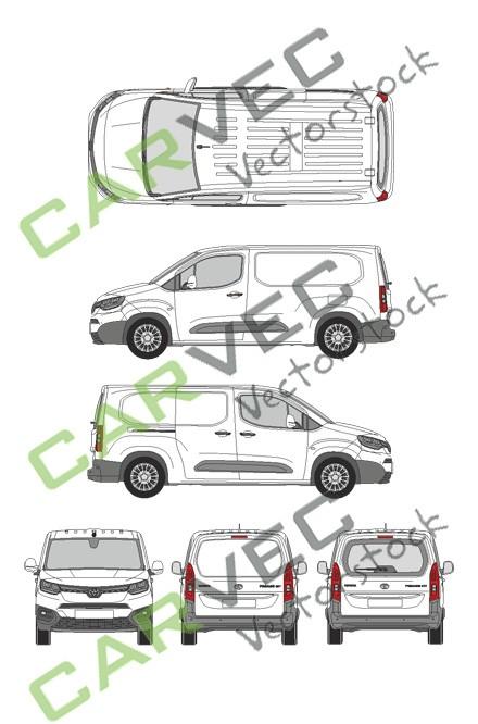 Toyota Proace City L2 (2020) (Heckklappe)