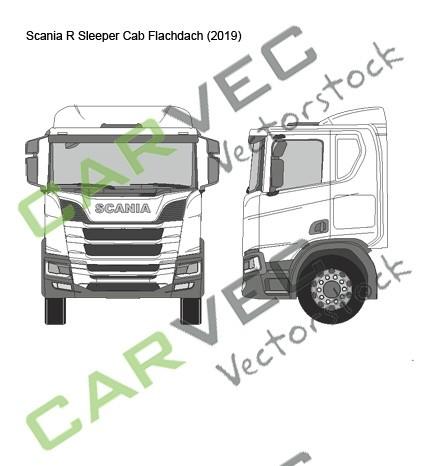 Scania R Sleeper Cab (2019) Flachdach