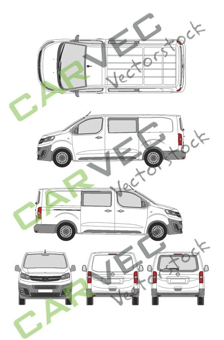 Opel Vivaro Cargo L (2019) Heckklappe Selection+Edition teilverglast