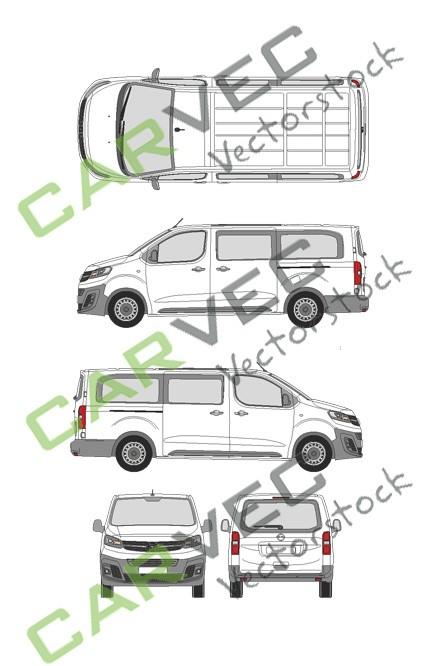 Opel Vivaro Cargo L (2019) Heckklappe Selection+Edition verglast