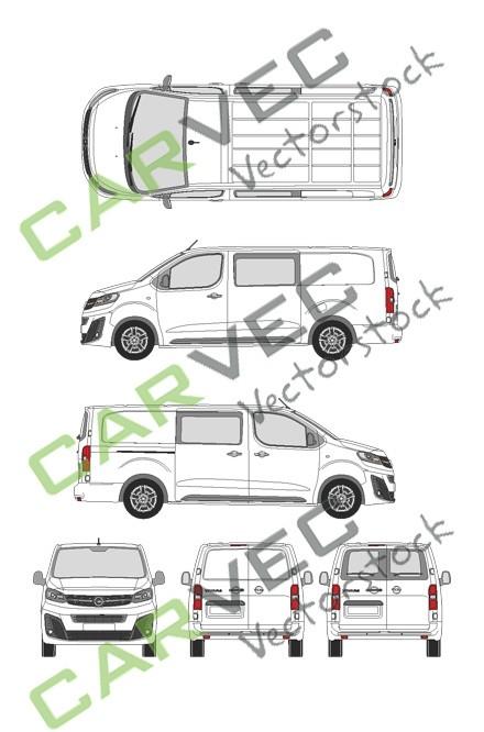 Opel Vivaro Cargo L (2019) Hecktuer Innovation teilverglast