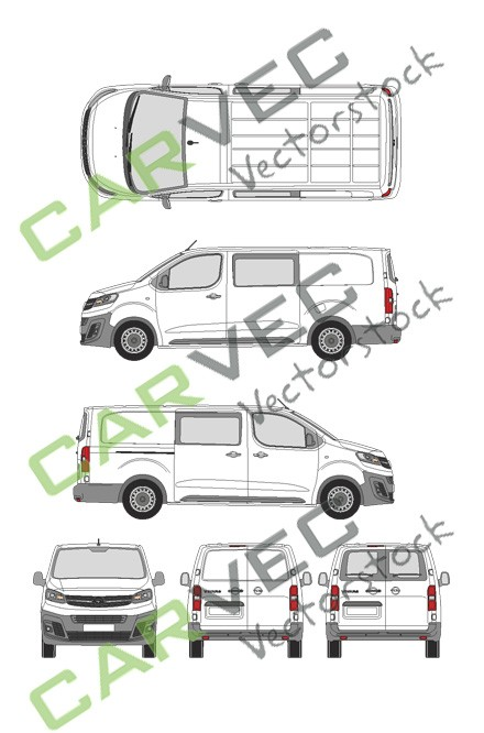Opel Vivaro Cargo L (2019) Hecktuer Selection+Edition teilverglast