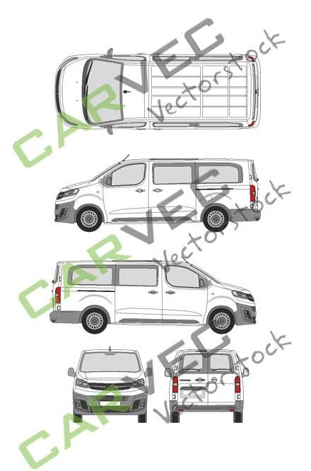 Opel Vivaro Cargo L (2019) Hecktuer Selection+Edition verglast